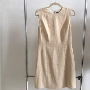 New Theory tan linen dress